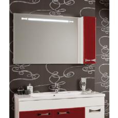 Зеркало Акватон Диор 120 правое (1200х686мм) бело-бордовое 1A110702DR94R