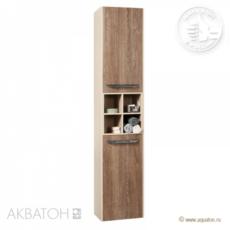 Шкаф-колонна подвесная Акватон Блент (350х1655 мм) кремовый/дуб европейский 1A167403BLAP0