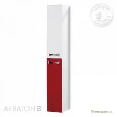 Шкаф-колонна Акватон Диор (262х1633мм) бело-бордовая 1A110803DR940