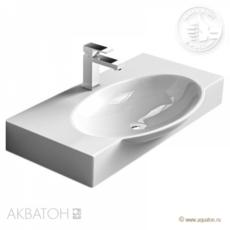 Раковина Акватон  SIGNO 76 F01 (Infinity 76) (769х458мм) белая 1AX162WBXX000