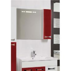 Зеркало Акватон Диор 80 правое (800х686мм) бело-бордовое 1A168002DR94R