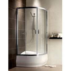 Душевой угол Radaway Premium Plus A 1700 (800х800 мм) профиль хром глянцевый/стекло коричневое 30411-01-08N
