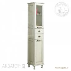Шкаф-колонна Акватон Жерона правая (350х1682 мм) белое серебро 1A158903GEM2R