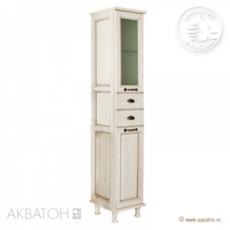 Шкаф-колонна Акватон Жерона правая (350х1682 мм) белое золото 1A158903GEM4R