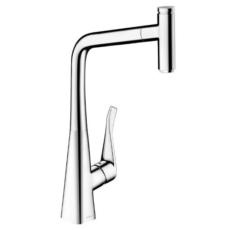 Смеситель для кухни с выдвижным душем Hansgrohe Metris Select  хром 14884000