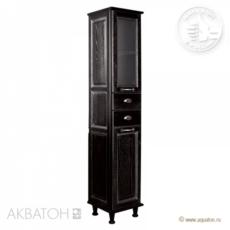 Шкаф-колонна Акватон Жерона левая (350х1682 мм) черное серебро 1A158903GEM5L
