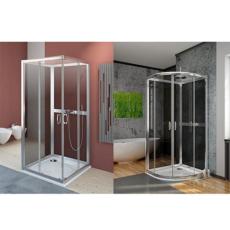 Задние стенки Radaway Premium Plus 2S 80 (для Premium Plus A/C) профиль хром глянцевый/стекло фабрик 33443-01-06N