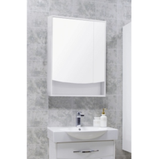 Зеркальный шкаф Акватон Инфинити 65 (650х850мм) белый 1A197002IF010