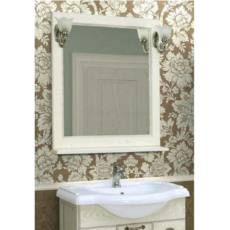 Зеркало Акватон Жерона 85 (840х920 мм) белое серебро 1A158702GEM20