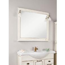 Зеркало Акватон Жерона 105 (1035х920 мм) белое золото 1A158802GEM40