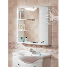 Зеркало Акватон Аттика правое (853х862мм) белое 1A003802AT01R