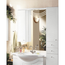 Зеркальный шкаф Акватон Домус левый (880х1084мм) белый 1A001002DO01L