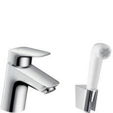 Смеситель для раковины с гигиеническим душем Hansgrohe Logis 71290000
