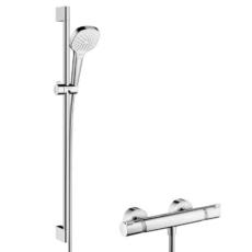 Душевой набор Hansgrohe Croma Select E Vario с темостатом Ecostat Comfort (белый/хром) 27082400