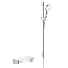 Душевой набор с термостатом Hansgrohe ShowerTablet Select 300 (белый/хром) 27027400