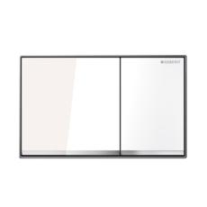 Смывная клавиша Geberit Omega60 115.081.SI.1 (белое стекло)