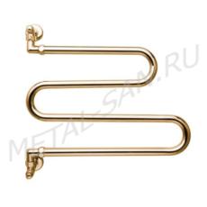 Полотенцесушитель водяной Margaroli Vento 406 (500х420 мм) золото 406GO