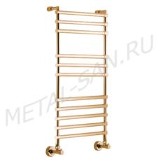 Полотенцесушитель водяной Margaroli Sole 464/11 (530х1076 мм) золото 4644711GON