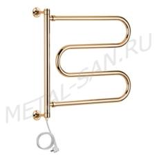 Полотенцесушитель электрический Margaroli Vento 500 (630х530 мм) золото 500547GOC
