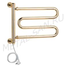 Полотенцесушитель электрический Margaroli Vento 510 (590х365 мм) золото 510GOC