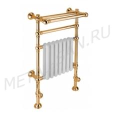Полотенцесушитель водяной с радиатором и полкой Margaroli Armonia 9-203 (560х972 мм) золото 92034844GOP