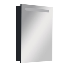 Зеркальный шкаф левый Roca Victoria Nord Black Edition 60 черный (606х810 мм) ZRU9000098