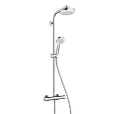 Душевая система Hanshrohe Crometta 160 1jet Showerpipe (белый/хром) 27264400