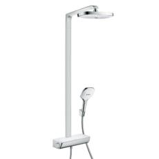 Душевая система Hansgrohe Raindance Select E 300 2jet Showerpipe (белый/хром) 27128400