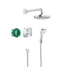 Душевая система Hansgrohe Croma Select E с термостатом Ecostat E (хром) 27294000