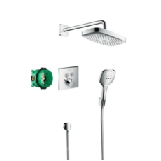 Душевая система Hansgrohe Raindance Select E с термостатом ShowerSelect (хром) 27296000