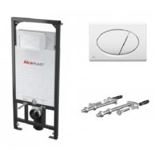 Скрытая система инсталляции для подвесного унитаза AlcaPlast SET 3 v 1 A101+M070 (клавиша белая) A101/1200+M070