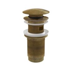 Донный клапан AlcaPlast A392 Antic (бронза) для раковин с переливом