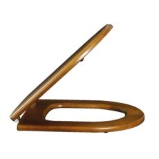Сиденье с крышкой для унитаза Villeroy & Boch Hommage 9926 K6 00 (9926K600) Орех/Латунь