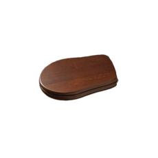 Сиденье с крышкой для унитаза Kerasan Retro 108840 (орех, крепление хром) с механизмом плавного закрывания