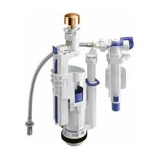 Механизм смыва для бачка Kerasan 750991 с кнопкой (золото) подвод воды снизу