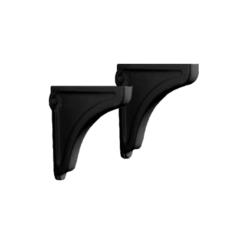 Керамические опоры для раковины Kerasan Retro 107904 (черные) комплект