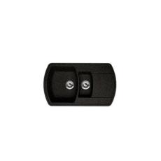 Мойка Florentina Нире-860К черный (20.205.D0860.102), 860х510мм
