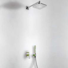 Душевая система TRES Loft Colors 20018002VE (зеленый/хром)