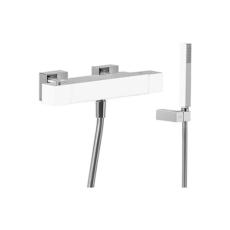 Термостат для ванны TRES Cuadro Exclusive 4071749 (белый/хром)
