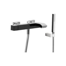 Смеситель для ванны TRES Cuadro Exclusive 60717002 (черный/хром)