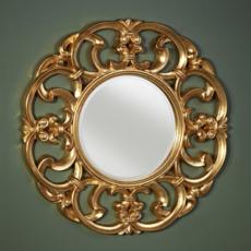 Зеркало в раме Deknudt Homka Garland Gold 9038.AGB (1000 мм) золото
