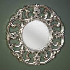 Зеркало в раме Deknudt Homka Garland Silver 9038.AHB (1000 мм) серебро