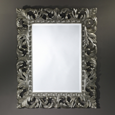 Зеркало в раме Deknudt Homka Sculpture Silver 9985.AHB (800х1000 мм) серебро