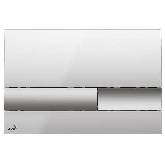 Кнопка управления AlcaPlast M1743 (хром глянцевый/клавиши хром матовый)