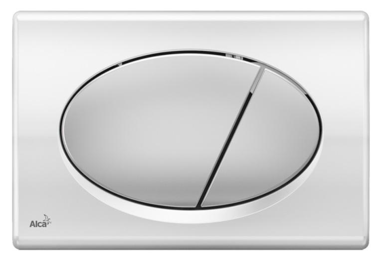 Кнопка управления AlcaPlast M73 (хром глянцевый/матовый)