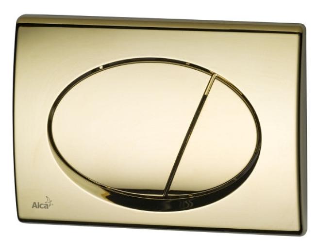 Кнопка управления AlcaPlast M75 (золотая)