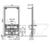 Инсталляция для подвесного биде AlcaPlast A105/1000 (высота 1 м)