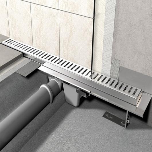 Водоотводящий желоб AlcaPlast APZ4-1150 Flexible (1150 мм, пристенный)