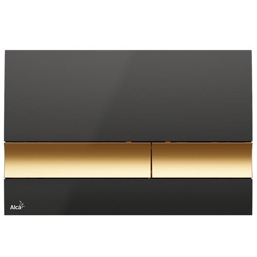 Кнопка управления AlcaPlast M1728-5 (черная/золото)