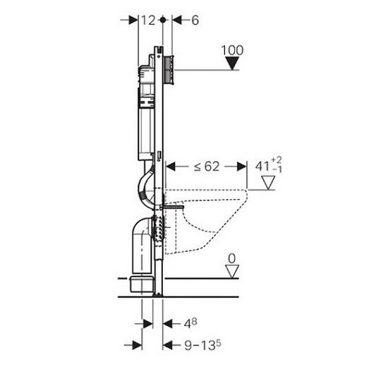 Инсталляция для подвесного унитаза Geberit Duofix UP320 111.362.00.5 (Plattenbau Sigma)